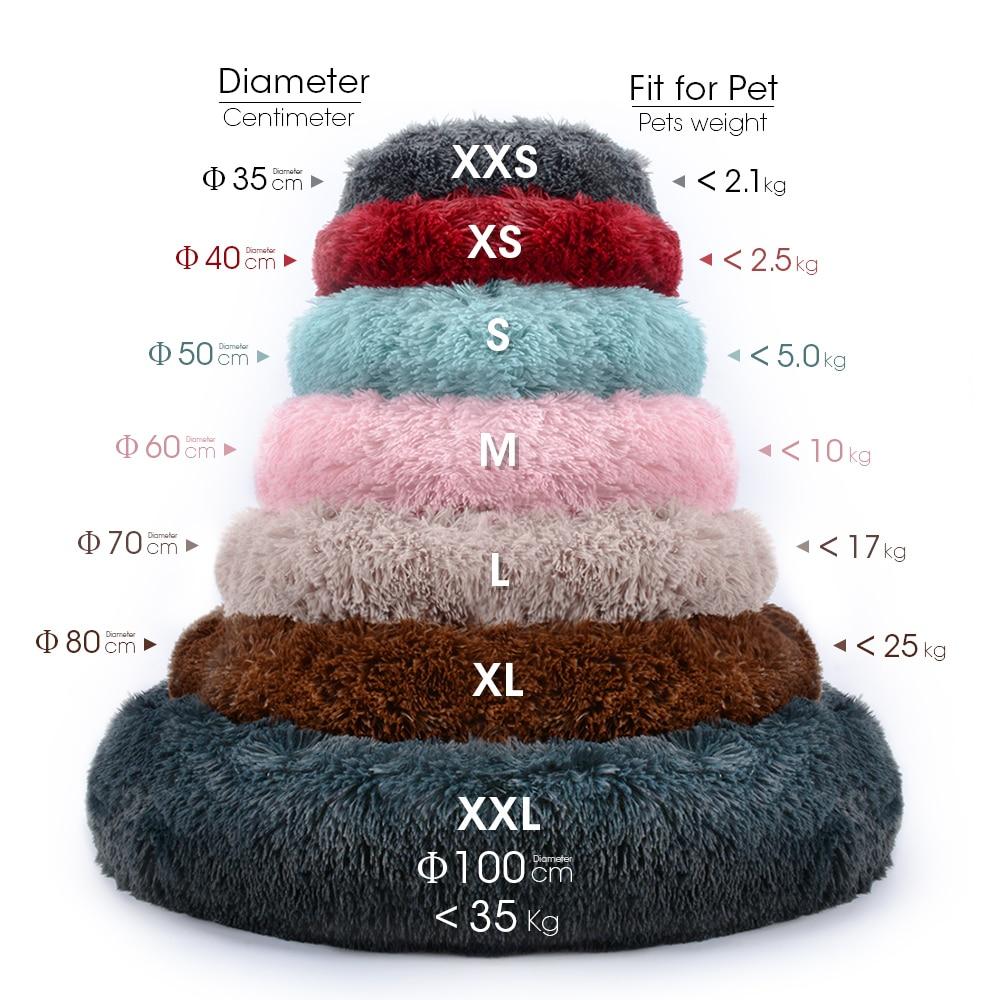 Closeout Deals═House Cat Mat Nest Bed Pet-Cushion Pets-Supplies Dog-Basket Round Warm Soft Long-Plush