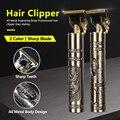T9 электромашинка для стрижки волос, Перезаряжаемые бритва триммер машинка для стрижки бороды и усов; Профессиональный Для мужчин, машинка д...