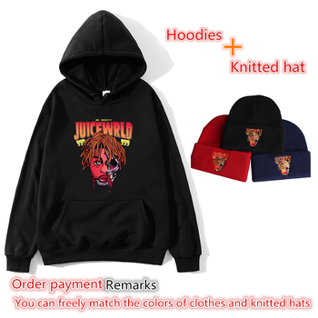 Hooded sweatshirt + knitted hat commemorative rapper juicewrld hot avatar print fashion streetwear multicolor menswear водолазка burton menswear london burton menswear london bu014emgfzg8