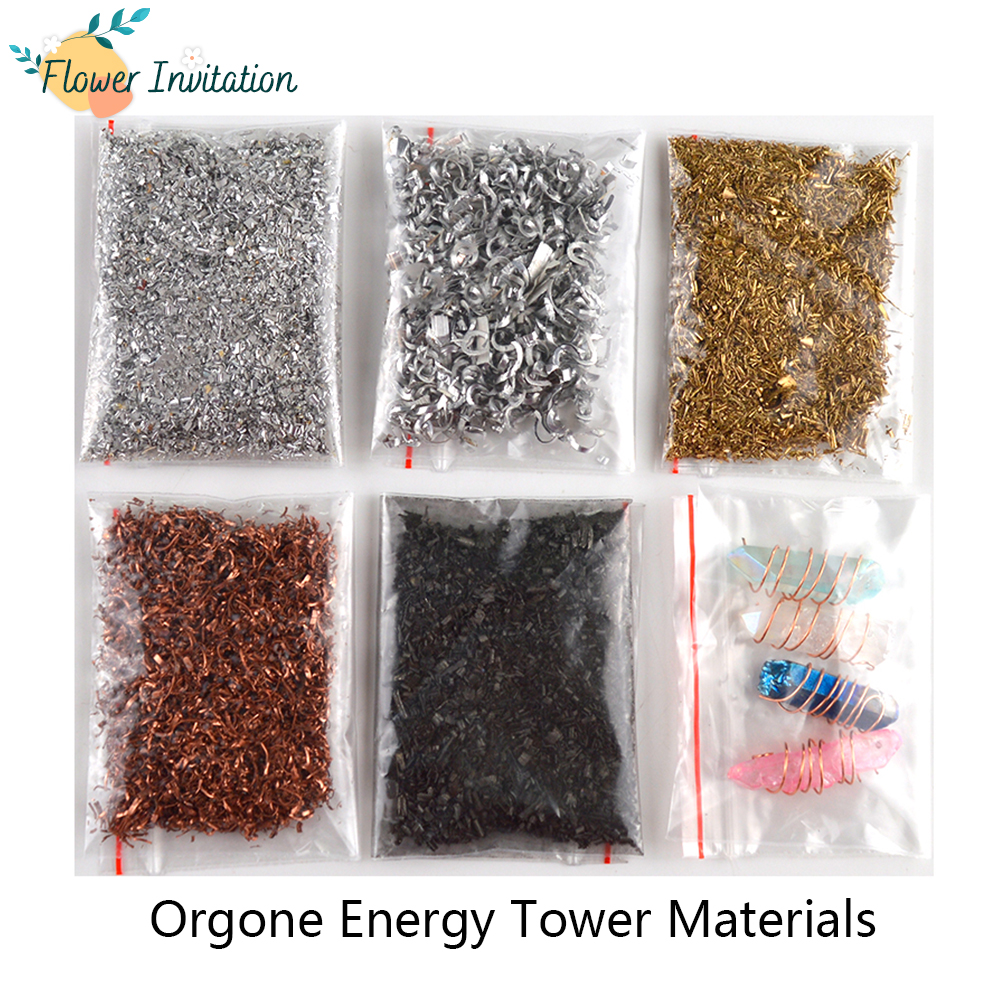 Flower Invitation Pyramid Brass Copper Iron Fillings DIY Orgonite Energy Tower Materials Copper Chips For Resin Craft Making