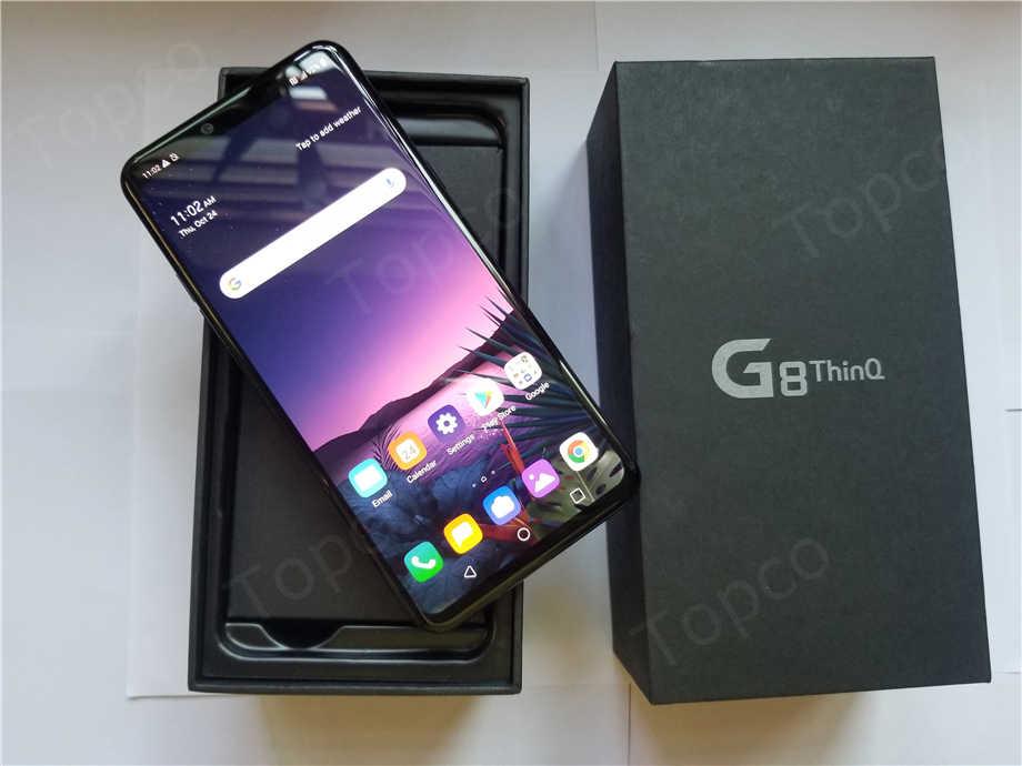 """LG G8 Thinq LMG820UM Ban Đầu Mở Khóa LTE Android Điện Thoại AT&T Snapdragon 855 Octa Core 6.1 """"6GB & 128GB 16MP & 12MP Vân Tay NFC"""