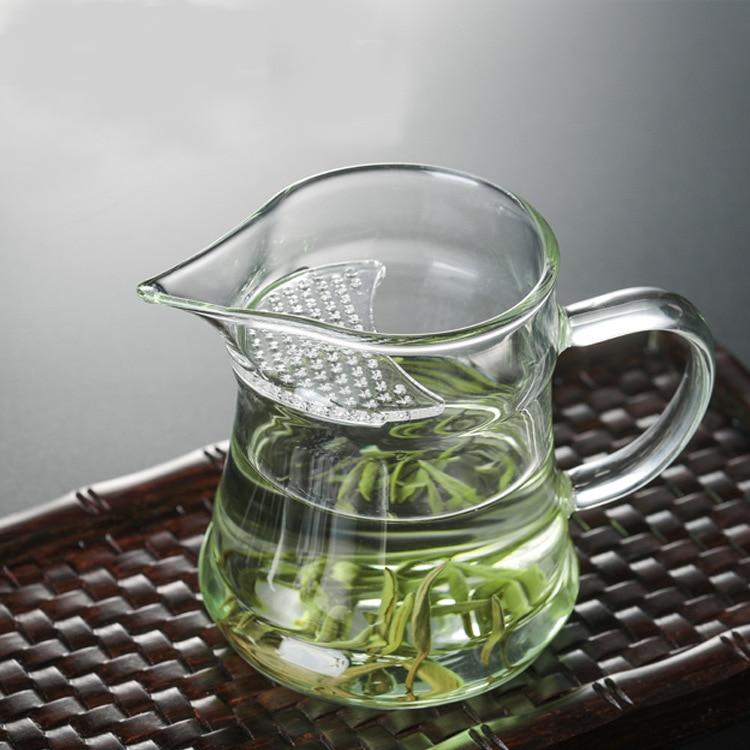 Heat-resistant Glass Tea Pot Hejian Glass Tea Set Crescent Pitcher Beak Green Tea Cup Tea Pitcher Wholesale