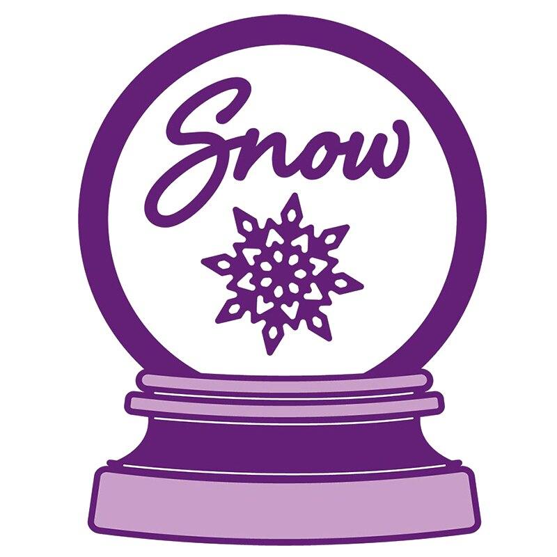 Красивый хрустальный шар снежинка снег слово металлические Вырубные штампы Скрапбукинг шейкер бумага DIY карты ремесла тиснение вырубки