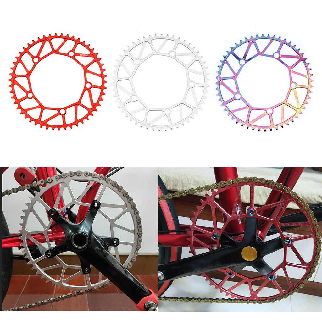 56T 130mmBCD Bike Road Bicycle Chainring Narrow Wide Chain Ring Aluminum Alloy