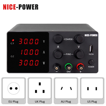 NICE-POWER 30V 10A 4 Digits White Black LAB DC Switching Power Supply 60V 5A Adjustable Source Voltage And Current Stabilizer image