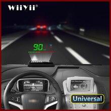 GEYIREN A2 HUD GPS Speedometer Head Up Displayคำเตือนนาฬิกาปลุกโปรเจคเตอร์กระจกรถยนต์