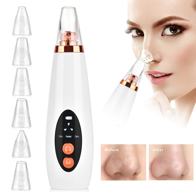 Facial Cleaner Nose Blackhead Remover Deep Pore Acne Pimple Removal Vacuum Suction Diamond T Zone Beauty Tool Face Household SPA 5