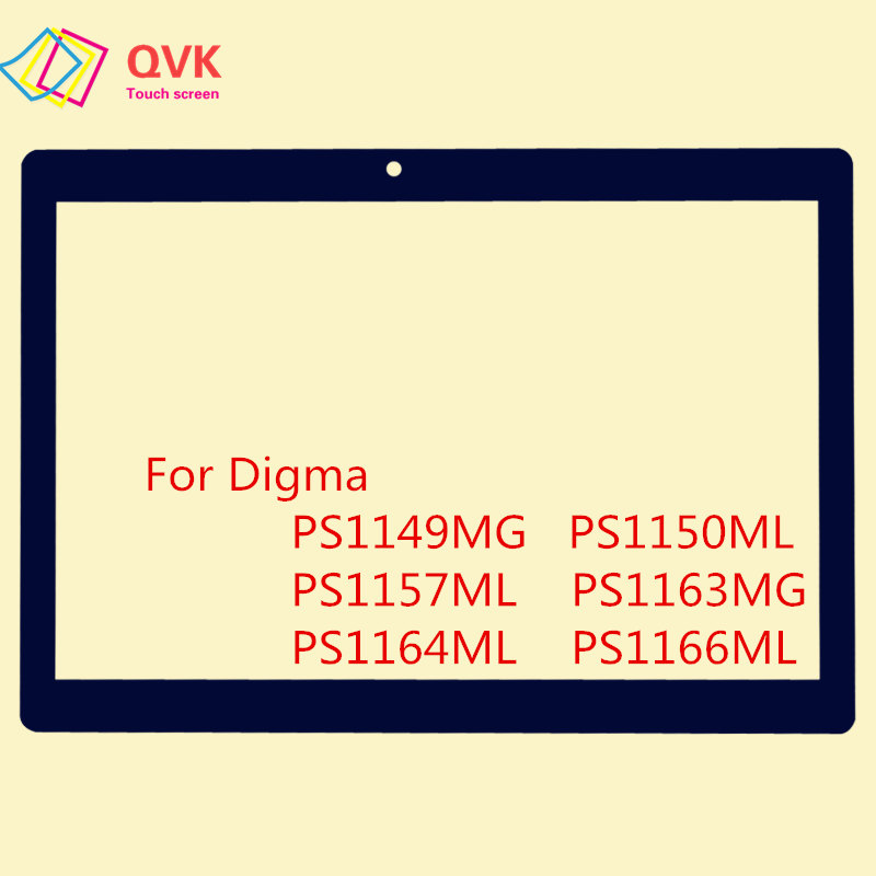 10.1 inch Black For Digma Plane 1537E 1538E 1541E 1550S 1551S 1553M Capacitive touch screen panel repair replacement parts