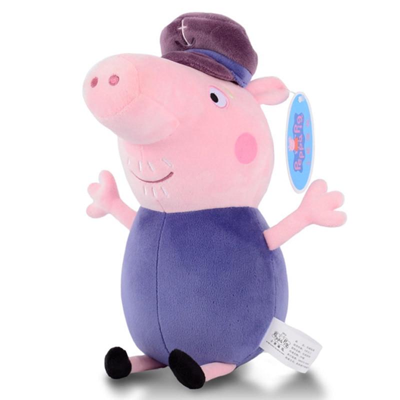 30cm Original Peppa Pig George Animal Stuffed Plush Toys Family Pink Pepa Pig Bear Dolls Christma Gifts Toy For Girl Children