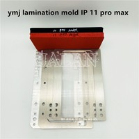 YMJ mold vacuum positioning laminating no bubble for iP 11 pro max LCD display touch glass oca polarize film repair