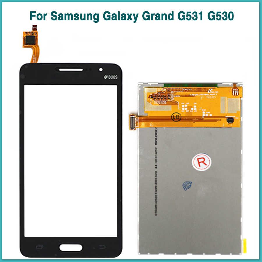 جديد LCD لوحة اللمس لسامسونج غالاكسي جراند برايم G530F G531H G530 G531 شاشة الكريستال السائل محول الأرقام بشاشة تعمل بلمس الاستشعار زجاج عدسة