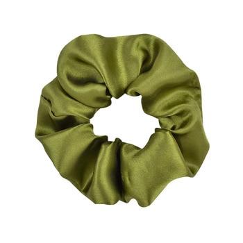 3.9 inch Women Silk Scrunchie Elastic Handmade Multicolor  Hair Band Ponytail Holder Headband Hair Accessories 35