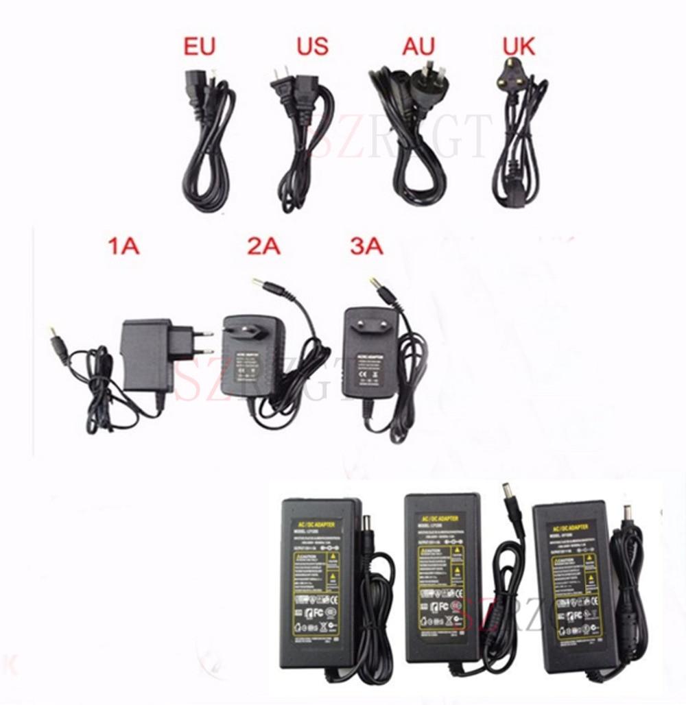 Zuw fonte de alimentação adaptador dc 5v 12v 24 v 1a 3a 5a dc 5 12 24 v volt iluminação transformadores led driver carregador adaptador tira conduzida