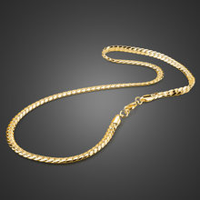 The New Arrivals Flat Whip Chain Cuban Chains Necklace For Men 925 Sterling Silver Link Fashion Jewelry Golden Chains Chokers