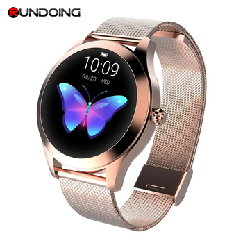 IP68 Waterproof Smart Watch Women Lovely Bracelet Heart Rate Monitor Sleep Monitoring Smartwatch Connect IOS Android KW10 band 1