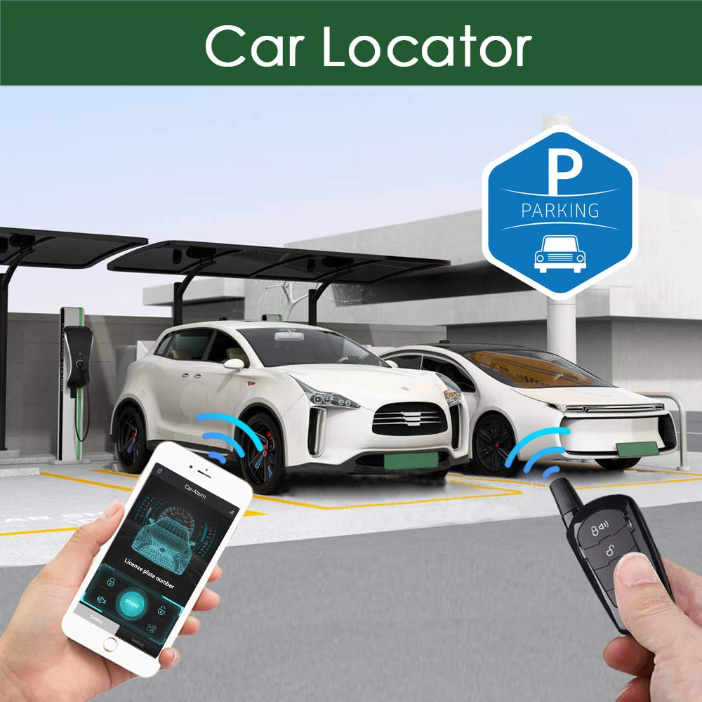 Smartphone Car Alarm System Control With Remote Control Auto Keyless Entry Central Kit Door Lock APP Automatic Trunk Opening