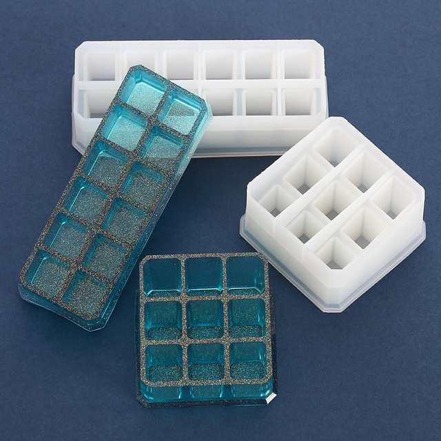 Lipstick Storage Box DIY Hand Made Crystal Trinket Silicone Mold For Resin Epoxy Resin Mold Pigment Bottle Storage UV Resin Mold