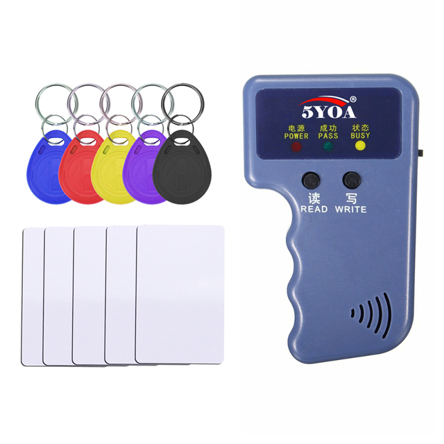 RFID Duplicator Card Reader  125KHz EM4100 Copier Writer Video Programmer T5577 Rewritable ID Keyfobs EM4305 Tags Card
