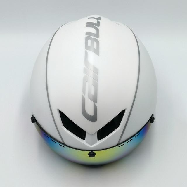 Cairbull capacete de segurança para ciclismo, capacete de segurança branco para andar de bicicleta na estrada, aero, ciclismo de corrida 5