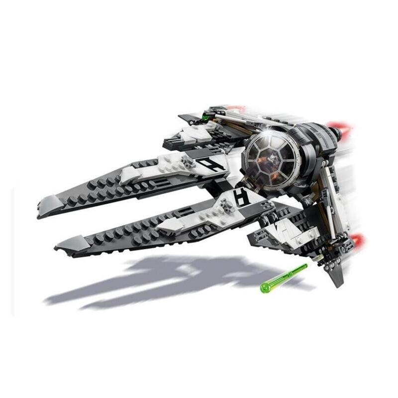 Yeni StarWars kuvvet uyandırır kravat Fighter Y kanat ile oyuncak inşaat blokları çocuklar için 75242 75240
