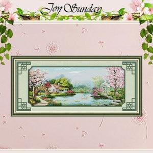 Image 1 - を農園の愛パターンクロスステッチ 11CT 14CTクロスステッチセット卸売クロスステッチキット刺繍針仕事