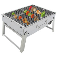 Manufacturers Direct Selling Outdoor White Steel Carbon Oven Stainless Steel Charcoal Oven Portable Folding Grill Wholesale
