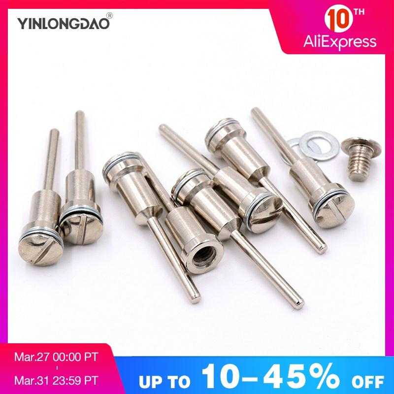 5pcs/lot  3.17mm/6mm Shank Mandrel HSS Cutting Arbor Fixed Cut-off Wheel Disc Holder Screw Mandrels For Dremel JUN13