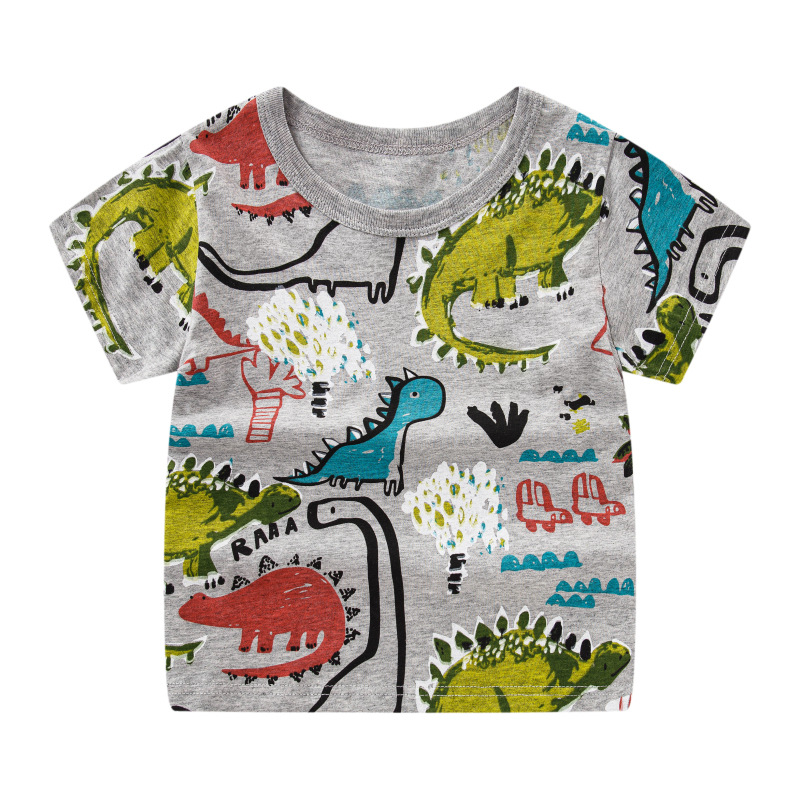 Summer T-shirt Kids Tops Of Cartoon Pattern Comfortable And Soft Boys Girls T-shirt  Brother And Sister's Tee