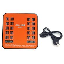 1Set Universal 40 Ports USB Charger Multi Ports Charging Station Dock For Mobile Phone Tablet iPhone