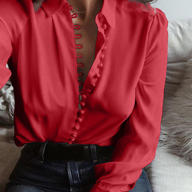 Women Tops and Blouses Plus Size Shirts for Office Ladies 2020 New Spring Long Sleeve Black White Blue Gray Casual Shirt Blusas 6