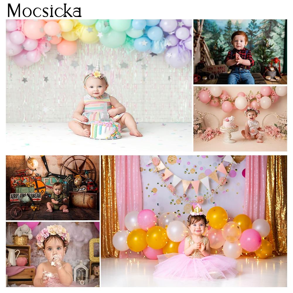 День рождения портретный фон для фотостудии для новорожденных на день рождения, многоярусная юбка фон для фотосъемки с изображением детска...