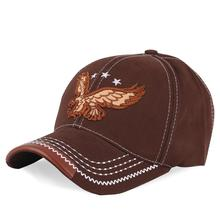 Brown Embroidery Eagle Baseball Cap USA Flags Winter Autumn Casquette Women Men Bone Trucker Hat Fashion Casual Snapback Sunhats
