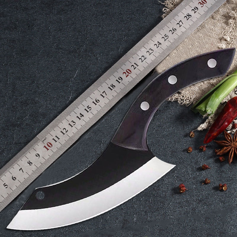 Image 5 - Handmade Chef Knife Clad Forged Steel Boning Slicing Butcher Kitchen Knives Meat Cleaver Kitchen ToolsKitchen Knives   -