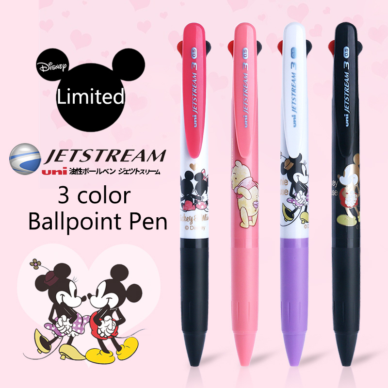 Uni Tri-Color Ballpoint Pen Multi-Purpose Pen SXE3-504D Limited Edition Disney Cartoon Oil Pen 0.5mm