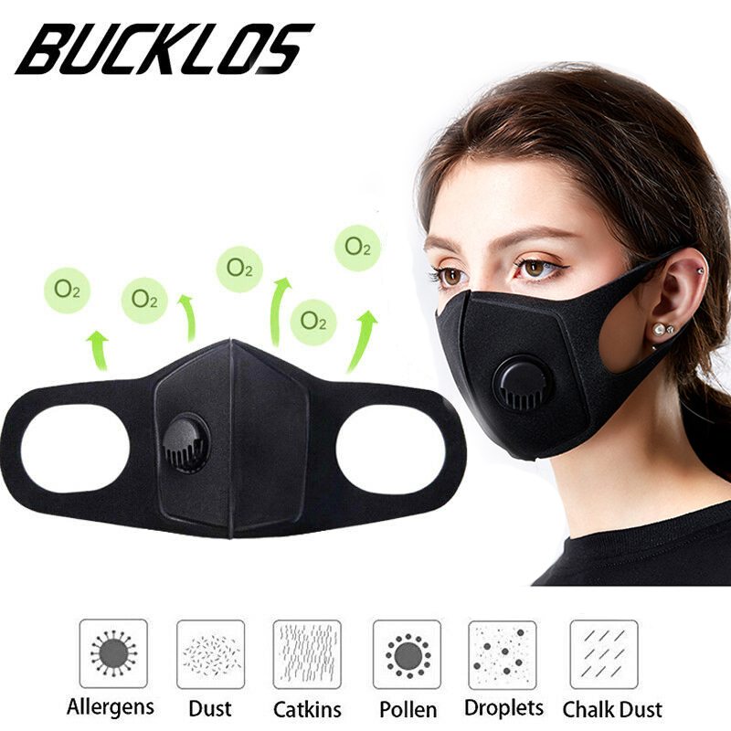 2PC Mouth-muffle Anti Dust Cycling Masks With Filter Half Face Carbon Bike Mask  FaceMasks Training Mask