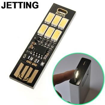 1Mini Portable Night Camp Bulb Mini USB Power 6 LED Light Pocket Card Lamp White Light/Warm Light фото