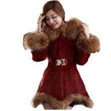 faux fur coat women white black wine red S-4XL plus size 019 autumn winter new long sleeve hooded fashion jacket LR515