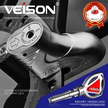 VEISON, мотоциклетная сигнализация, водонепроницаемая, мотоциклетная сигнализация, замок для защиты от кражи, мотоциклетный дисковый тормозной замок, скутер, сигнализация, 2 цвета
