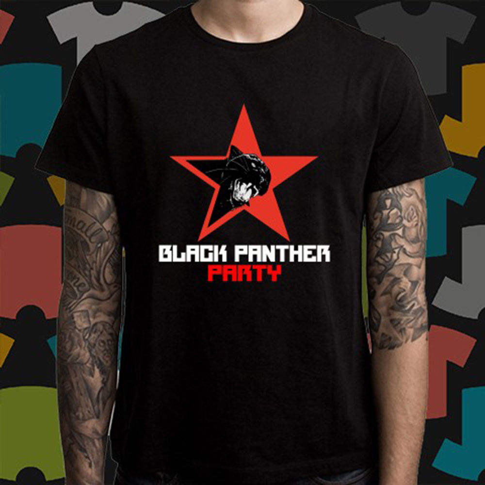 New Black Panther Party Logo *Malcolm X Men/'s T-Shirt Size S to 3XL