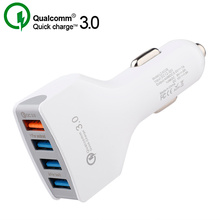 Hot 4 USB Quick Charger 3.0 Car Charger Adapter 7A QC3.0 Fas