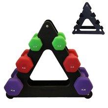1 stücke Hanteln Halterung Dreieck Kleine Blätter Große blätter Verschiedenen Formen Hantel Halterung Fitness Ausrüstung