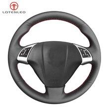 LQTENLEO czarna sztuczna skóra pokrywa kierownicy dla Fiat Punto Bravo Linea 2007 2019 Qubo Doblo 2008 2015 Grande Punto