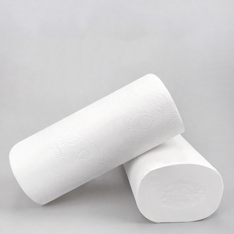 18 Roll 4 Layers Toilet Tissue Paper Home Bath Paper Bathroom Rolling Paper White Native Wood Pulp Toilet Roll Tissues