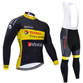 Winter 2020 TEAM SCHWARZ direkte energie Thermische fleece Radfahren JACJET Bike Hosen set herren Ropa Ciclismo 20D radfahren Maillot Culotte tragen