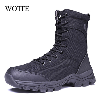 Outdoor Desert Military Camo Breathable Hiking Shoe Spring Autumn Men Hunting Climbing Leather Wearproof Tactical Training Boots 2