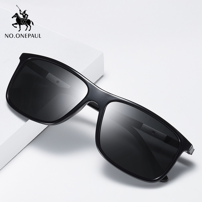 NO.ONEPAUL Polarized UV400 Lens Eyewear Accessories Male Sun Glasses For Men/Women Brand Men's Vintage Square Sunglasses