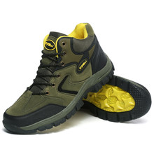 Bottes montantes de randonnée imperméables pour hommes et femmes, chaussures d'escalade de montagne, semelle en caoutchouc, pour Couple