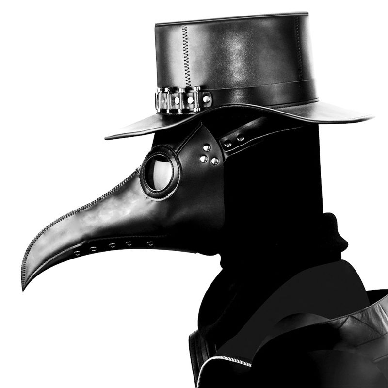 Plague Doctor Bird Mask Long Nose Beak Cosplay Steampunk For Motorcycles Party Tactical Mask Costume CS Nref Props image
