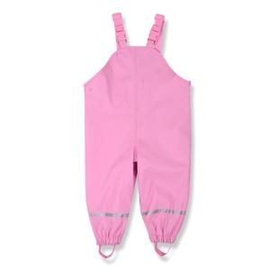 Image 3 - Brand Waterproof Polar Fleece Padded Baby Girls Boys PU Rain Pants Warm Trousers Children Outerwear Kids Outfits For 85 130cm