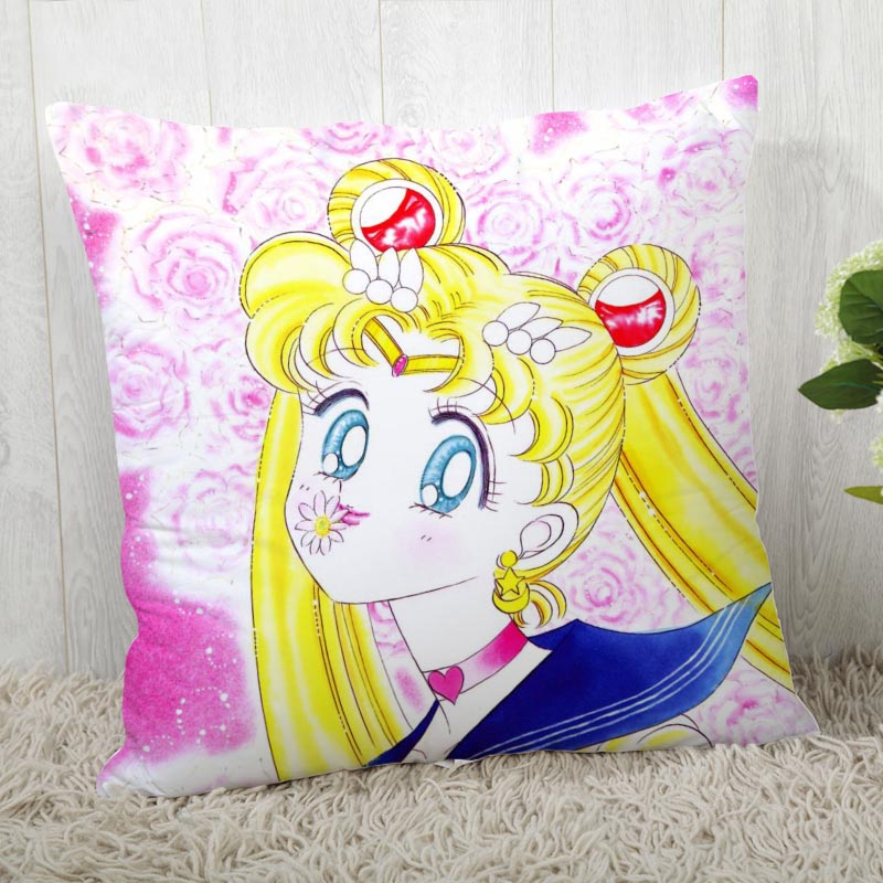 Sailor Moon Pillow Cover Customize Pillow Case Modern Home Decorative Pillowcase For Living Room 45X45cm A19.12.13